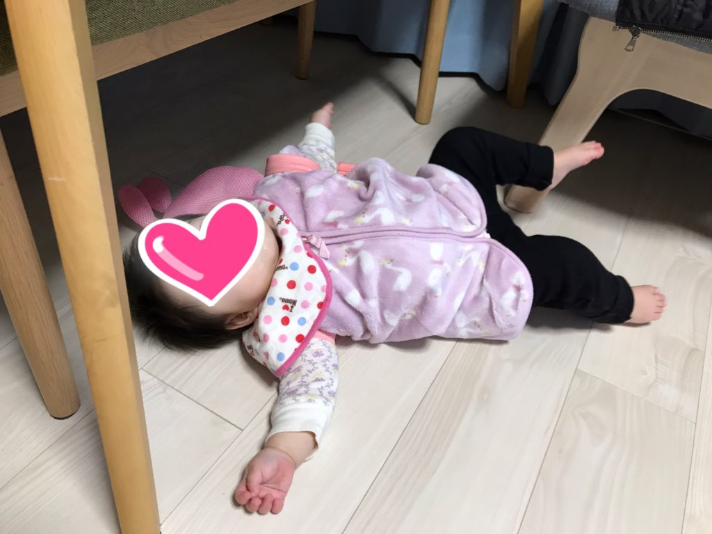 赤ちゃんの転倒防止リュックのレビュー